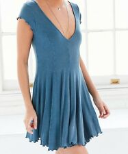 KIMCHI BLUE URBAN OUTFITTERS SHORT SLEEVE RIBBED KNIT T-SHIRT DRESS Sz M