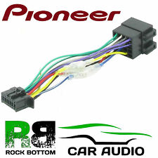 PIONEER DEH-X9500SD Model Car Radio Stereo 16 Pin Wiring Harness Loom ISO Lead