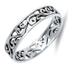 USA Seller Tiny Wave Band Ring Sterling Silver 925 Best Deal Jewelry Size 3