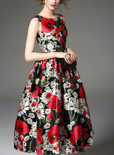 Top Selling Mix Flower Western Digital Printed Dress For Girl Women Sevenfold
