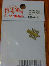 Cal-Scale #6477 (HO Scale) Throttle Cable Support System Parts (Brass)