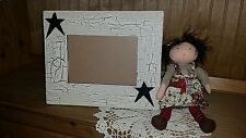 Primitive black star picture frame