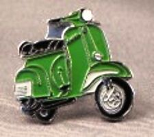Metal Enamel Pin Badge Brooch Vespa Scooter Motorbike Bike Biker Rider Green