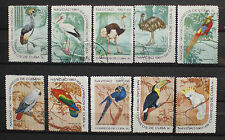 Central America Bird Stamps Used
