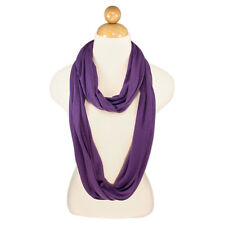 Elegant Solid Color Infinity Loop Circle Jersey Scarf - Diff Colors Available