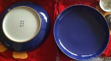 18/19TH C A Pair of Antique Chinese Porcelain Blue Plates HUGE