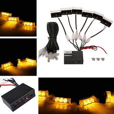 Car 18-LED Amber Emergency Strobe Flashing Police Warning Grill Light DC 12V 5W