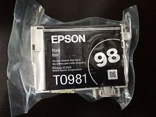 2pk Genuine Epson 98 Black inks T0981 T098120 Artisan 835 837 High Capacity_T098