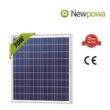 NewPowa High efficiency 70W 12V Polycrystalline Solar Panel Module