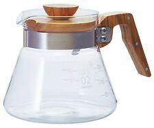 New! Hario VCWN-60-OV V60 Coffee Server 600 ml Olive Wood from Japan Import!