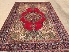 Hand Knotted Persian-TABRIZ Oriental Rug Carpet 7 x 10,6' 9'' x 9' 6''