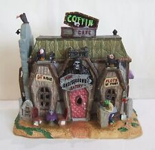Lemax Spooky Town Halloween Coffin Cafe #45675 NIB Skull Vulture Tombstones (LE)