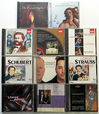 Lot of 11 CLASSICAL CDs VARIOUS LABELS SCHUBERT Korngold STRAUSS Harrell #CD31