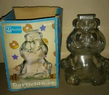 Collectible Glass Garfield coin bank