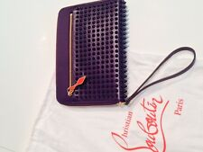 CHRISTIAN LOUBOUTIN -  Clutch / Wallet - holds an I PAD MINI - UNISEX - PURPLE