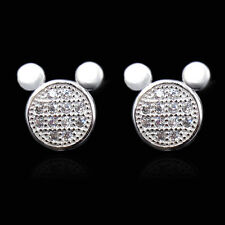 DISNEY 925 STERLING SILVER MICKEY MOUSE EARRINGS MINNIE JEWELRY WALT WORLD USA