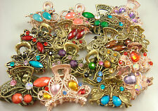 5pcs Crystal Bronze Metal Alloy Hair Clamp Claw Clips Hairpins wholesale hot 1J