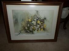 Carolyn Blish FRAMED PICTURE SIGNED FLORAL RARE!!!