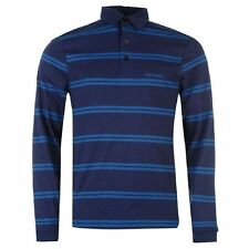 Pierre Cardin Long Sleeve Striped Polo Shirt Top size S New