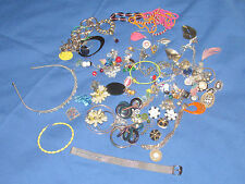 Fashion Jewelry Junk Drawer Mixed Lot Earrings Bracelets Pens over 100 Pieces