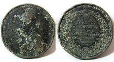1887 Golden Jubilee Queen Victorian LEAD Medallion 49mm 39g POOR condition
