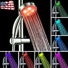 Handheld 7Color LED Romantic Light Water Bathing Bathroom Shower Head Glow