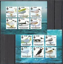 + Mauritania, 2002 Cinderella issue. Water Birds, IMPERF sheets. Scout logo.