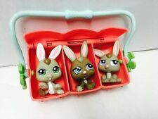 Littlest Pet Shop 1332 1333 1334 Baby Bunny Triplets CARRIER LOT A003