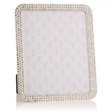 "Beautiful Crystal Square 8"" x 10"" Photo Frame Vintage antique Bling style 24955"