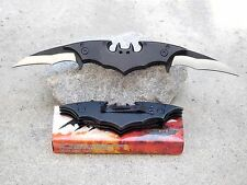 "Large 10"" Batman Double Two Blade Dark Knight Spring Assisted Pocket Knife"