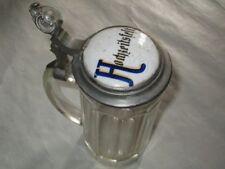 Boccale in vetro lavorato da birra,capacità 0,5 lt ,del 1900 da collezione