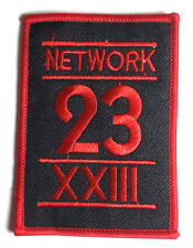 "Max Headroom Network 23 Logo Embroidered 3.5""  Patch_FREE S&H (MHPA-001)"