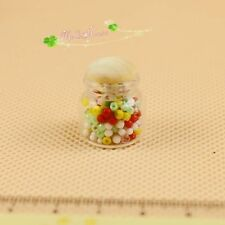 1:12 miniature dollhouse accessories chubby glass candy jar 60015