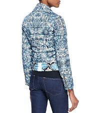 Just Cavalli Biker Babe Jacket Puffer Bomber Zip Floral Print CHIC 1k GIVE AWAY!