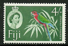 Album Treasures Fiji Scott # 173  4sh Elizabeth Kandavu Parot Mint NH