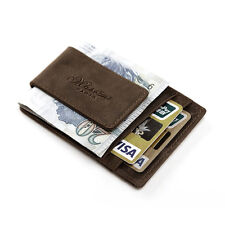 Quality Men Casual Credit Card Holder Leather Wallet With Magnetic Money Clip