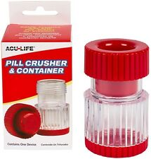 Pill Crusher & Container Crush Powder Medicine Box Cutter Storage Pulverizer NEW