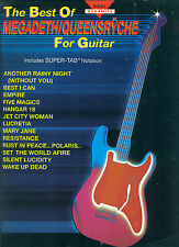 """MEGADEATH/QUEENSRYCHE """" BEST OF"""" FOR GUITAR WITH VOCALS MUSIC BK ON SALE"""