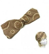 Gold and Pearl colored Bow FASHION Headband
