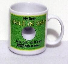 American Greetings humorous funny COFFEE MUG Golf My first Hole in One S18