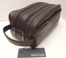 KENNETH COLE REACTION Men's Brown Toiletry Case *Shave Kit *Travel/Dopp Bag *New