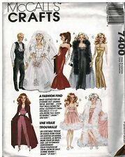 "7400 UNCUT Vintage McCalls SEWING Pattern  Fits 11.5"" Fashion Dolls Like Barbie"