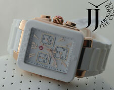NEW MICHELE TAHITIAN PARK JELLY BEAN WOMEN WHITE SILICONE WATCH MWW06L000014