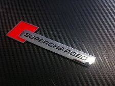 Supercharged badge / emblem sticker Audi,Holden,HSV,BMW