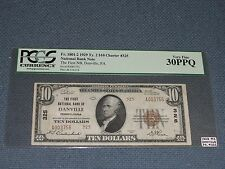 1929 Ty2 Danville, Pa National Bank Note Graded 30 Ppq by Pcgs