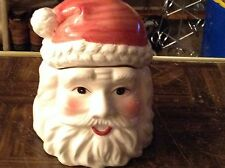 Ceramic Santa head cookie jar