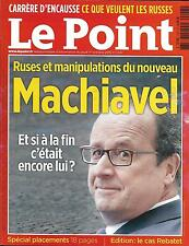 LE POINT N°2247 01/10/2015 HOLLANDE, MACHIAVEL?/ PICASSO/ PLACEMENTS/ E-COMMERCE