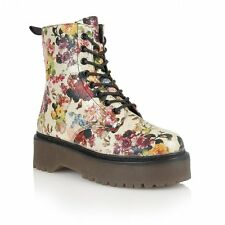 Dolcis  Floral/Gold Boots Lace Up/Side Zip Size 5 RRP £45 LAST PAIR!!!