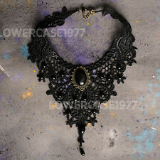 'Black Harvest' Gothic Victorian lace choker vampire, gothic, costume faux jewel