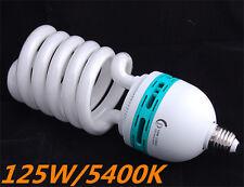E27 Photo Daylight Fluorescent Bulb Lamp FOR Video Studio 220V 125W 5400K